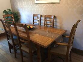 Stunning table x 6 chairs with matching unit