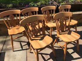 6 pine chairs £15 each