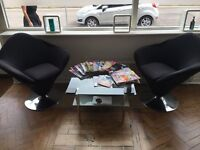 ** SALON CLOSING DOWN ** FOR SALE ** ARM CHAIRS & COFFEE TABLE **
