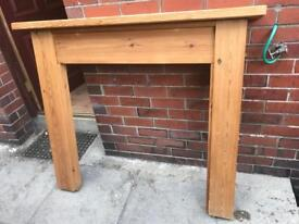 Solid pine fire surround