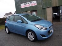 "2011 HYUNDAI IX20 ACTIVE BLUE DRIVE ""12 MONTHS MOT"" FULL SERVICE HISTORY 1 LADY OWNER MUST BE SEEN"