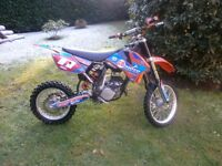 KTM 85 SMALL WHEEL MOTOCROSS BIKE 2009. FAB LOOKING BIKE NEEDS BOTTOM END REBUILD.