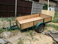 Large trailer with drop down back