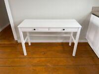 IKEA HEMNES Desk with 2 drawers white