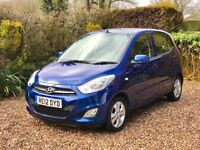 Hyundai i10 Active 2012 just serviced & MOT'd, 5 door, Air con, service history, lady owner