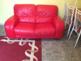 Sofas 2x2 real leather Can deliver