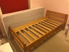 Single Bed - Solid pine (Frame Only) Two identical available - Very good condition