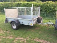 Ifor williams p6e car trailer cage sides ramp ifor Indespension like new general lights prop quad