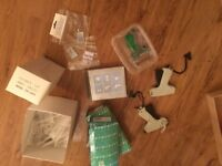 Clothes garment Tagging guns x 3 plus needle packs x 3 and 3 large boxes of attachments tags