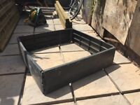 2nd Hand Raised Bed Kits, Black Plastic 1m x 1m Square, 25cm Depth, 4 available, £16 each