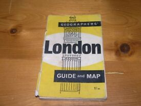 Vintage London Map Geagraphers Pocket Size Map Weymouth