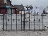 wrought iron full house set up / gates / railings / side gate / d.i.y / building / wall toppers