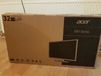 "Acer 32"" EB321HQU WQHD IPS White Monitor Resolution WQHD 2560 x 1440"