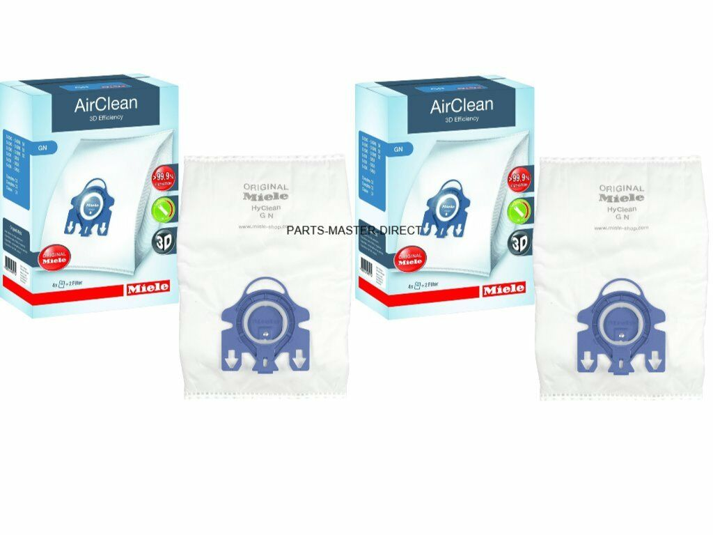 Miele Complete C3 Cat /& Dog HyClean 3D 4 Vacuum Bags 2 Filters GN Genuine