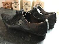 Designer Dolce & Gabbana Mens Brown Leather Shoes uk8 eu42 rp£450