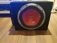 1200w Sony xplod sub and 300w fusion amp