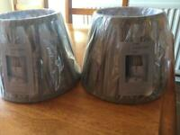 Grey table lampshades ( new)