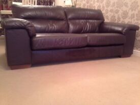 Marks & Spencer Italian leather 3 seater and fabric 2 seater sofas