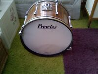 Premier 22 in 60s, 70s bass drum.