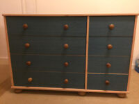 Blue Chest Of Drawers - Very Good Condition