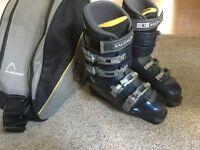 Ski boots adult size uk size 9, Salomon.