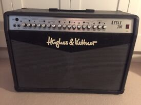 HUGHES & KETTNER ATTAX 200 SOLID STATE GUITAR AMP TWIN CELESTIONS + CHORUS & REVERB