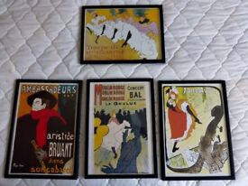 Framed Toulouse Lautrec Posters