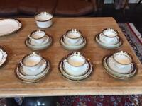 21 piece antique china tea set .