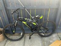 "26"" dual suspension mountain bike (5 gears)"