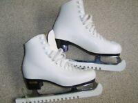 Lady's laser ice skates
