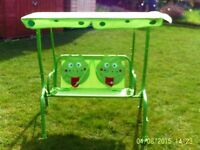 KIDDIES GARDEN SWING SEAT WITH CANOPY