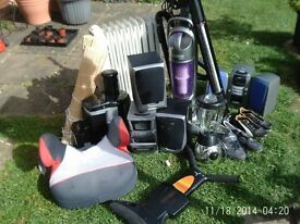 Joblot of Household items including a fully working tv and more IDEAL FOR CARBOOT SALE £90 FOR ALL