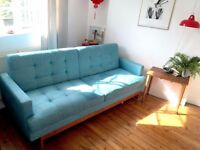 1950's mid century style daybed Urban Outfitters Sofa / Sofa Bed retro vintage