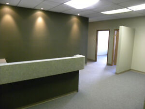 LETEAM - 5 OFFICES + RECEPTION AREA D/T RED DEER - $2,500/MTH