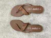 [NEW] [Leather] Brown summer sandals - size 8/41