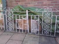 8 foot fancy wrought gates