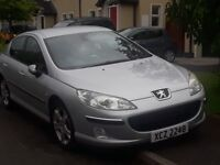 Peugeot 407, full years mot, low miles and mint. Swap for 7 seater.