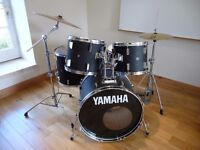 Yamaha 4000 Drum Kit in satin black with all stands and cymbals