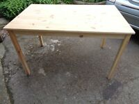 Solid Pine Kitchen/dining table and 4 chairs