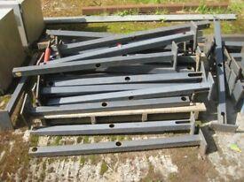 Mezzanine Floor - Steel Rail Support Posts