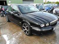 """jaguar x type 2.0 diesel black 18"""" alloys full leather motd"""