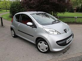 2008 (08) Peugeot 107 1.0 12v Urban Move 3dr, ONLY 79K Mls, 1-yr MOT, Lowest Insurance Group