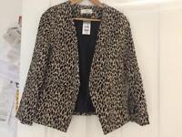 Wallis leopard print suit jacket size 12