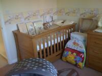 Mamas and Papas Ocean Light Oak Cot Bed