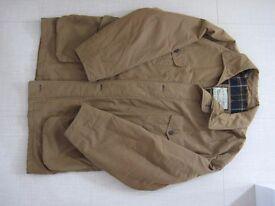 Mens Marks & Spencer Warm Lined Barn Jacket Coat - Khaki - Size L