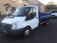 Ford transit tipper 100 PS t350 MWB (07) REG 11 months MOT 1 owner from new NO VAT