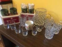 Vintage glasses and jug and little mug
