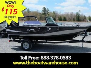 2016 lowe boats FS 1710 Merc 115HP Trailer Fish Finder Stereo