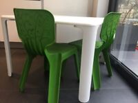 Designer Kids Table and 4 Chairs