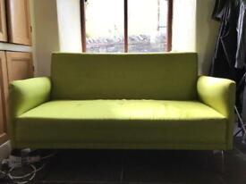 Green two person sofa